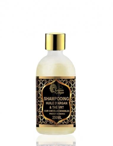 shampoing à l'huile d'argan et thé vert