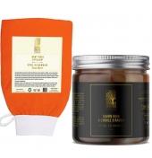 Savon noir à l'huile d'argan + gant de gommage kessa